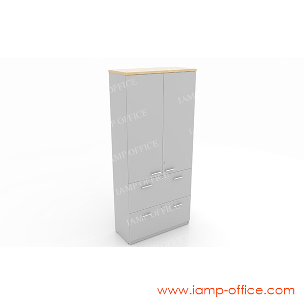 ตู้เอกสารสูงบนบานเปิด-ล่าง 2 ลิ้นชัก (แขวนแฟ้ม)  20 OFH