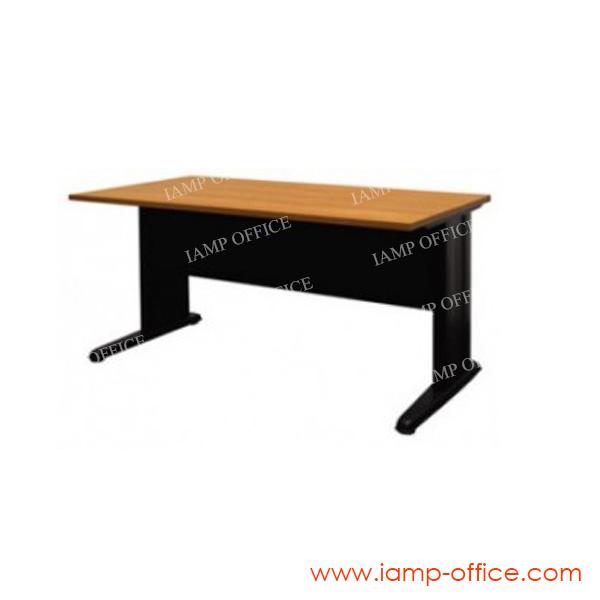 โต๊ะทำงานขาเหล็กโล่ง ขนาด 120x80x75 Cm.