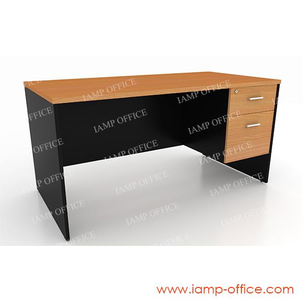 โต๊ะทำงาน 2 ลิ้นชัก ขนาด 150x75x75 Cm.