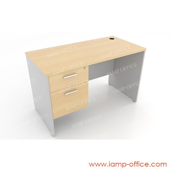 โต๊ะทำงาน 2 ลิ้นชัก แบบตรง ด้านซ้าย
