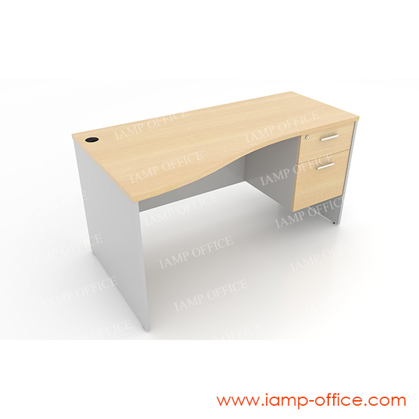 โต๊ะทำงาน 2 ลิ้นชัก แบบ S-SHAPE – 86