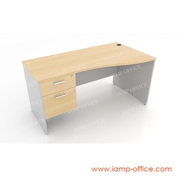 โต๊ะทำงาน 2 ลิ้นชัก แบบ S-SHAPE – 68