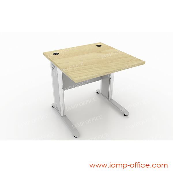 โต๊ะทำงานตรงขาเหล็ก สำหรับความลึก 80 Cm.