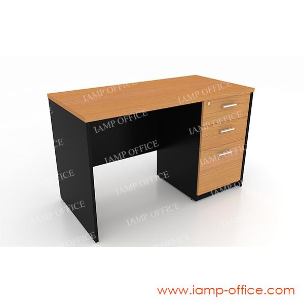 โต๊ะทำงาน 3 ลิ้นชัก ขนาด 120x60x75 Cm.