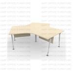 โต๊ะทำงานขาเหล็ก APWS-120