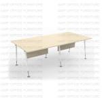 โต๊ะทำงานขาเหล็ก APWS-2412