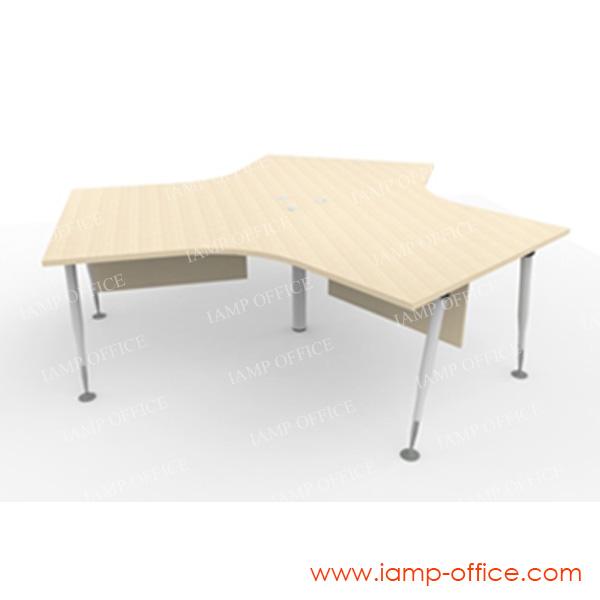 โต๊ะทำงาน 3 ที่นั่ง รุ่น AP-SERIES ขนาด 267.6×231.8×75 Cm.