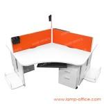 โต๊ะทำงาน 3 ที่นั่ง รุ่น CALL 120 P