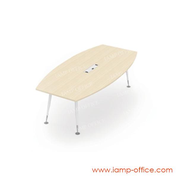 โต๊ะประชุม 8 ที่นั่ง รุ่น AP-SERIES ขนาด 240x120x75 Cm. (มีกล่องไฟ)