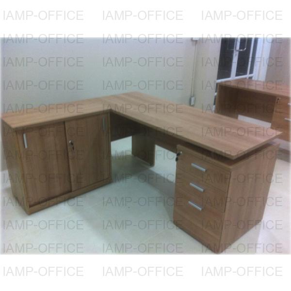 โต๊ะทำงาน 2 ลิ้นชัก สีคาปูชิโน่ รุ่น Hydra