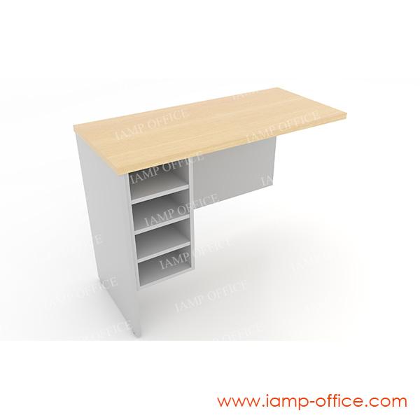 โต๊ะต่อข้าง แบบมีชั้นวางเอกสาร