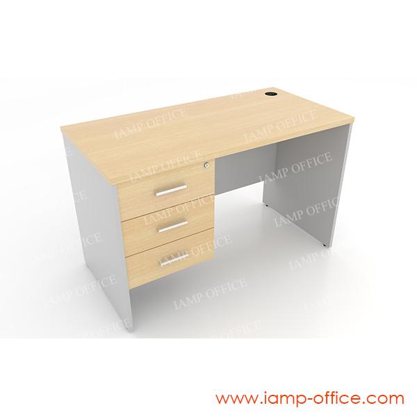โต๊ะทำงาน 3 ลิ้นชัก แบบตรง ด้านซ้าย
