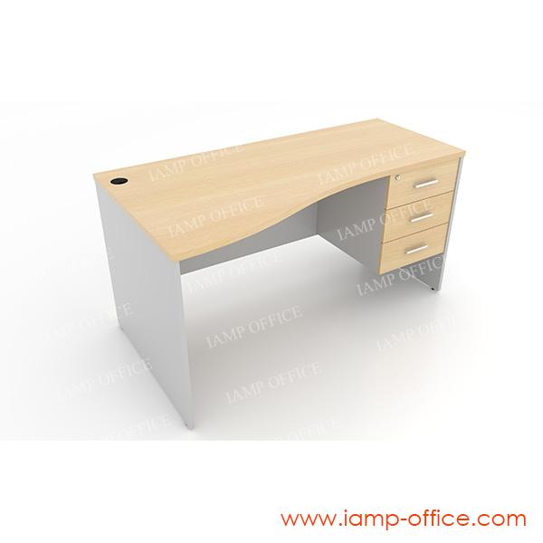 โต๊ะทำงาน 3 ลิ้นชัก แบบ S-SHAPE – 86