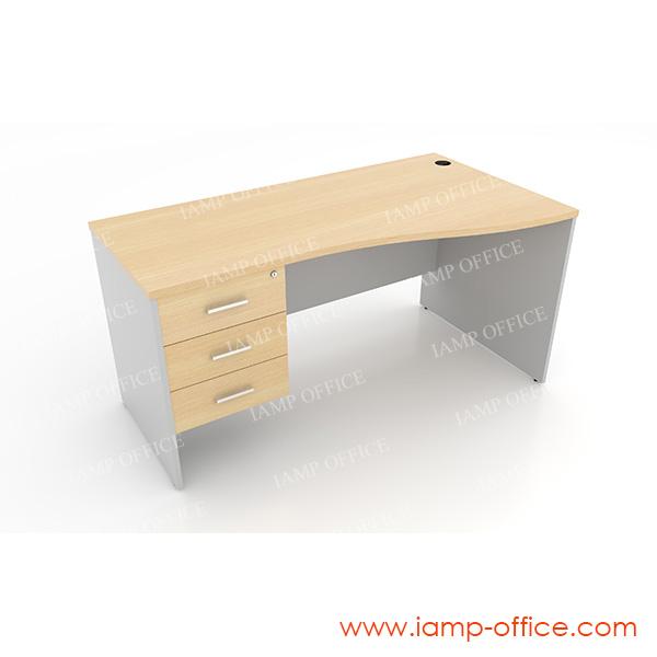 โต๊ะทำงาน 3 ลิ้นชัก แบบ S-SHAPE – 68