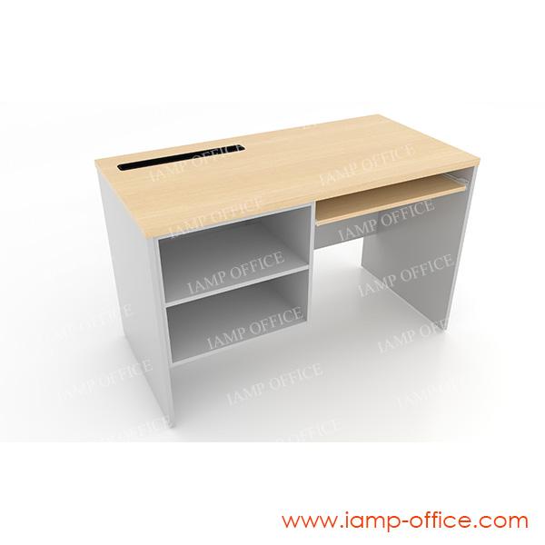 โต๊ะคอมพิวเตอร์ มีที่วางพริ้นเตอร์ ด้านซ้าย