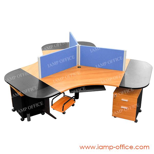โต๊ะทำงาน 3 ที่นั่ง รุ่น KOREA 3