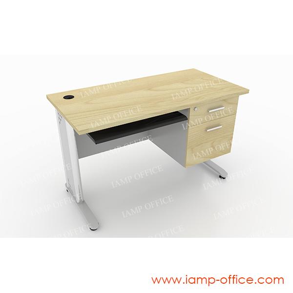 โต๊ะทำงานแบบมี 2 ลิ้นชัก+คีย์บอร์ด05 (1)