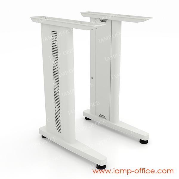 โต๊ะทำงานขาเหล็กโล่ง ขนาดความลึก 80 CM