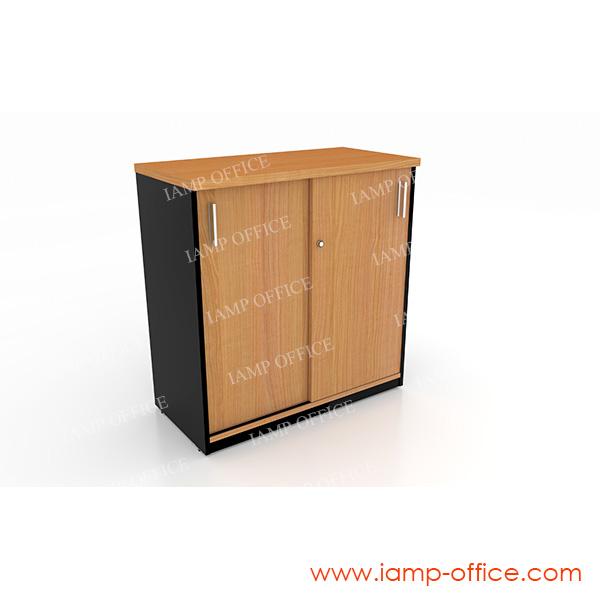 ตู้เอกสารเตี้ยบานเลื่อน ขนาด 80x40x84 Cm.