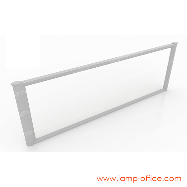 มินิสกรีน / ฉากกั้นโต๊ะ แบบกระจกใส
