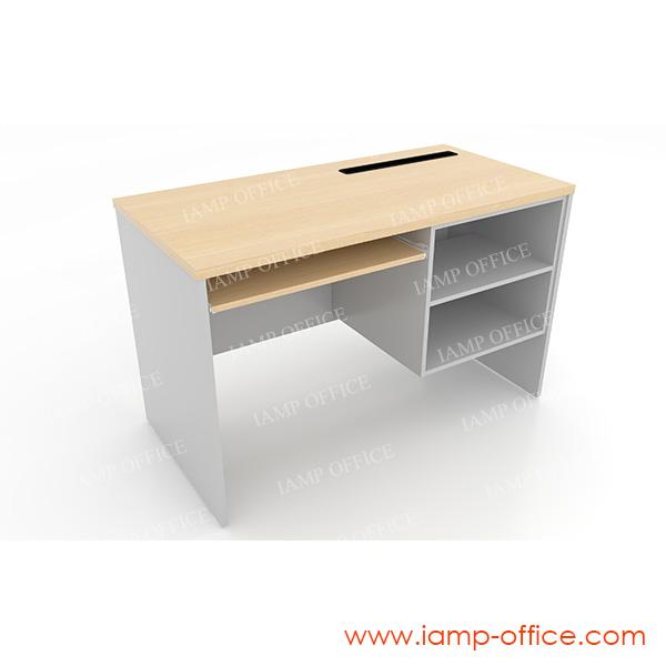 โต๊ะคอมพิวเตอร์ มีที่วางพริ้นเตอร์ ด้านขวา