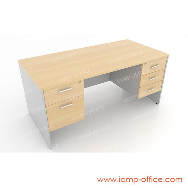 โต๊ะทำงาน 2 ลิ้นชักซ้าย 3 ลิ้นชักขวา