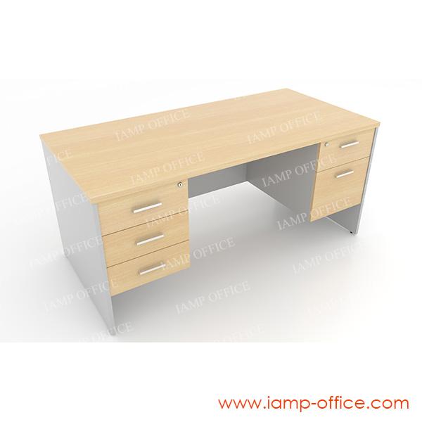 โต๊ะทำงาน 3 ลิ้นชักซ้าย 2 ลิ้นชักขวา
