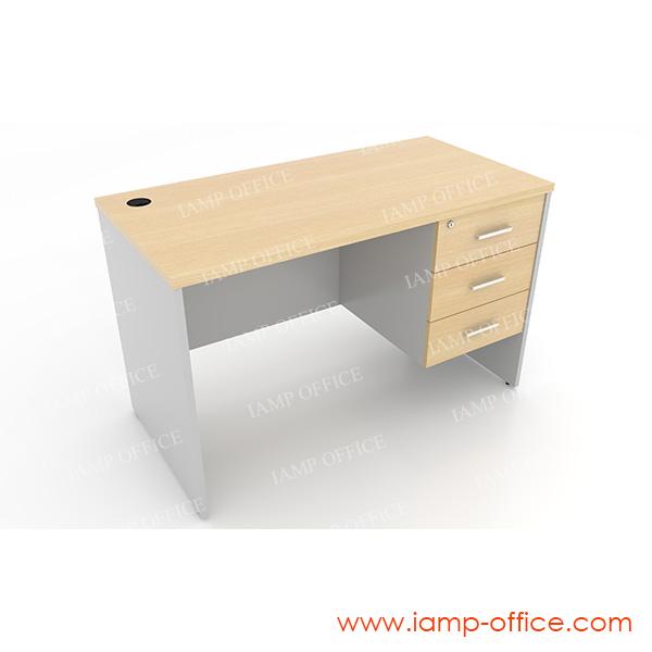 โต๊ะทำงาน 3 ลิ้นชัก แบบตรง ด้านขวา
