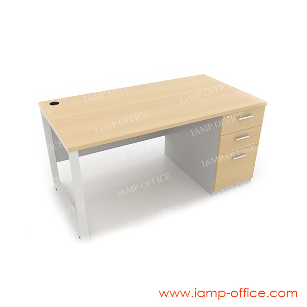 โต๊ะทำงาน 3 ลิ้นชัก ด้านขวา สำหรับโต๊ะลึก 80 Cm.