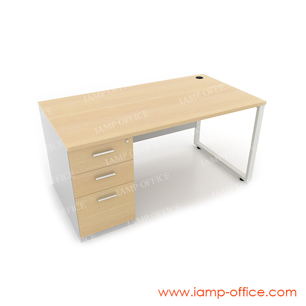 โต๊ะทำงาน 3 ลิ้นชัก ด้านซ้าย สำหรับโต๊ะลึก 80 Cm.