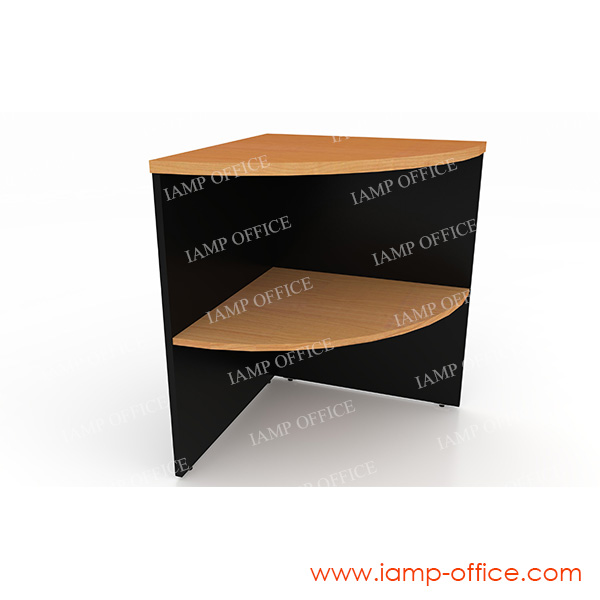 โต๊ะเข้ามุม LCSS 60 A แบบมีชั้น ขนาด 60x60x75 Cm.