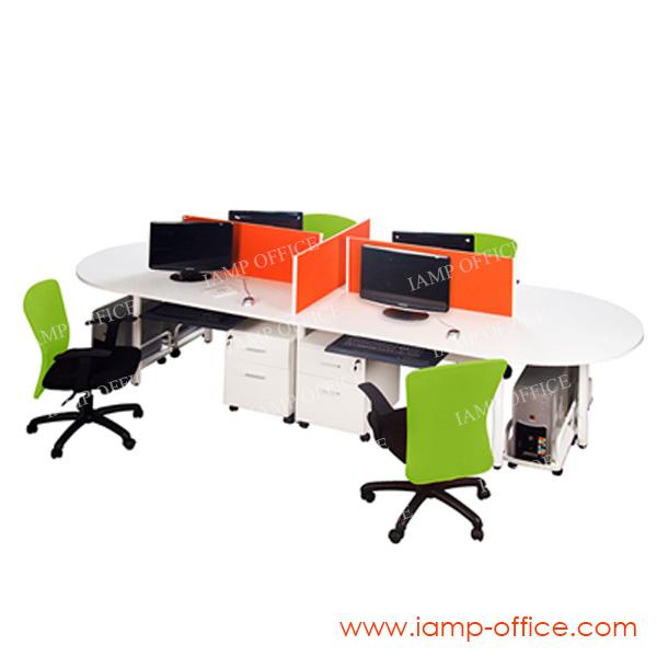 โต๊ะทำงาน 2 ที่นั่ง รุ่น CONTE SET 2