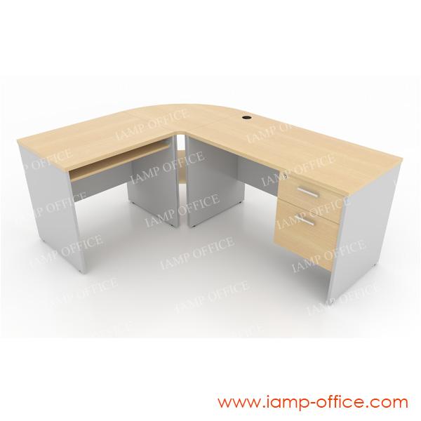 ชุดโต๊ะทำงานสำนักงานเซ็ท A ขนาด 185x145x75 Cm.