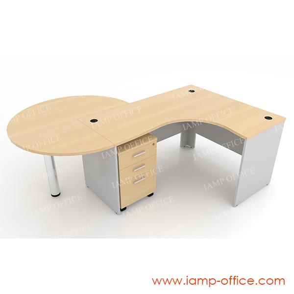 ชุดโต๊ะทำงานสำนักงานเซ็ท C ขนาด 210x180x75 Cm.