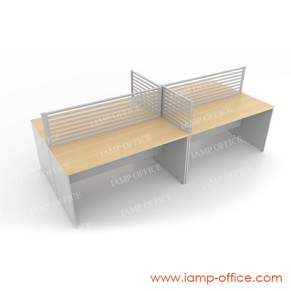 โต๊ะทำงานโล่ง 4 ที่นั่ง รุ่น HYDRA-W SET A
