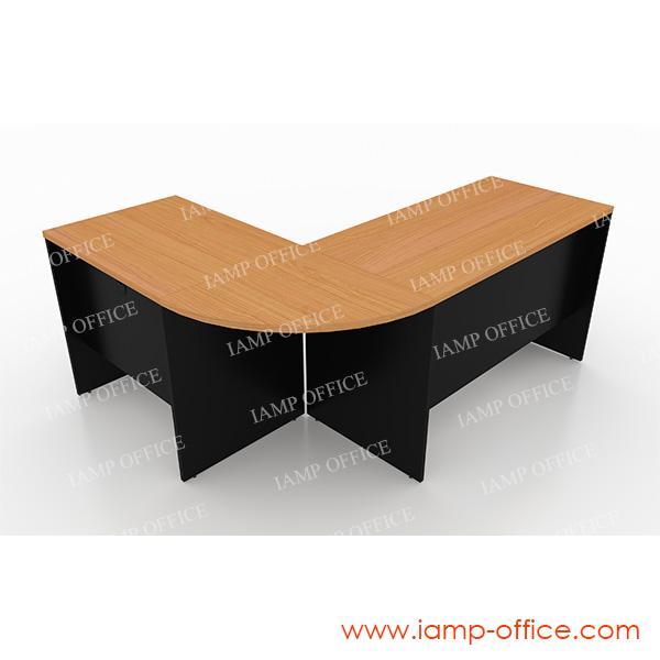ชุดโต๊ะทำงานสำนักงานเซ็ท B ขนาด 180x140x75 Cm.