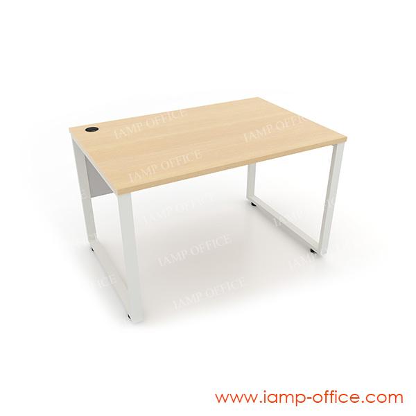 โต๊ะทำงานขาเหล็กโล่ง สำหรับโต๊ะลึก 80 Cm.