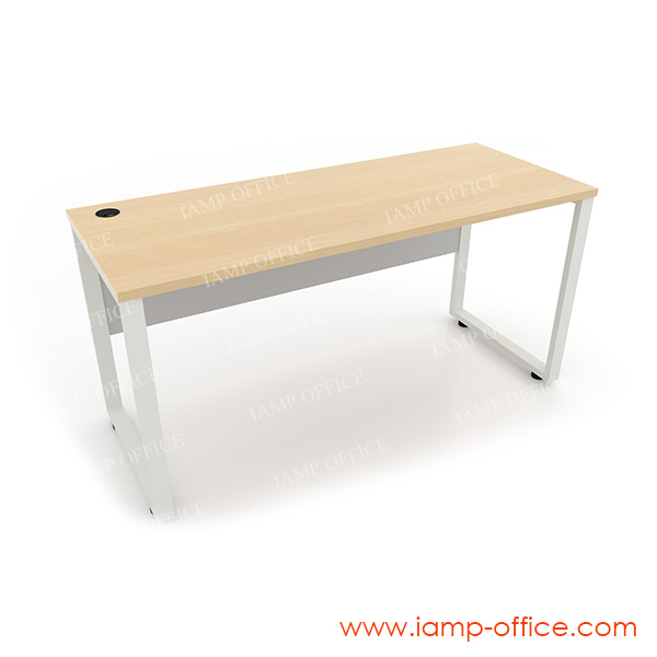 โต๊ะทำงานขาเหล็กโล่ง สำหรับโต๊ะลึก 60 Cm.