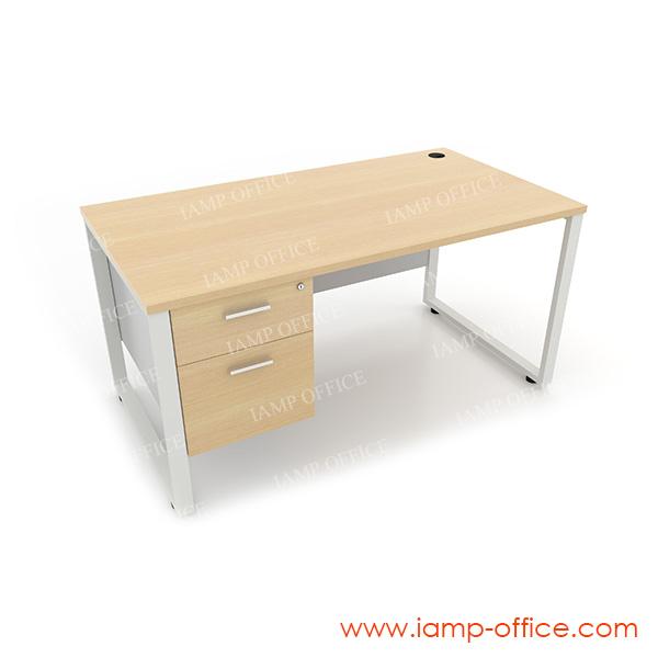 โต๊ะทำงาน 2 ลิ้นชัก ด้านซ้าย สำหรับโต๊ะลึก 80 Cm.