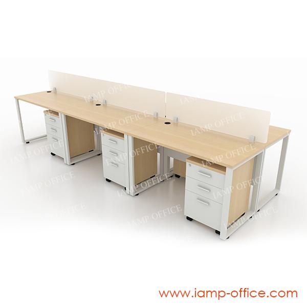 โต๊ะทำงานโล่ง 6 ที่นั่ง รุ่น MONY-W SET C