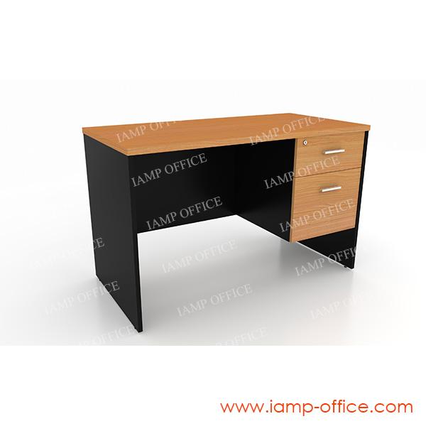 โต๊ะทำงาน 2 ลิ้นชัก TWV 1202-60 ขนาด 120x60x75 Cm.