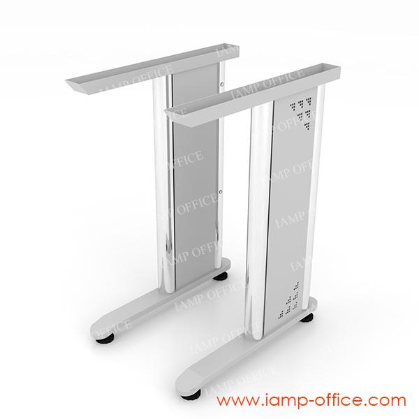 โต๊ะทำงานตรงขาเหล็ก สำหรับความลึก 60 Cm.