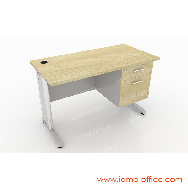 โต๊ะทำงาน 2 ลิ้นชัก สำหรับโต๊ะลึก 60 Cm.