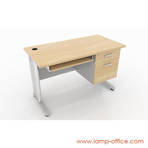 โต๊ะทำงาน 2 ลิ้นชัก มีคีย์บอร์ด03 สำหรับโต๊ะลึก 60 Cm.