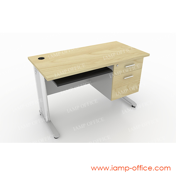 โต๊ะทำงาน 2 ลิ้นชัก มีคีย์บอร์ด05 สำหรับโต๊ะลึก 60 Cm.