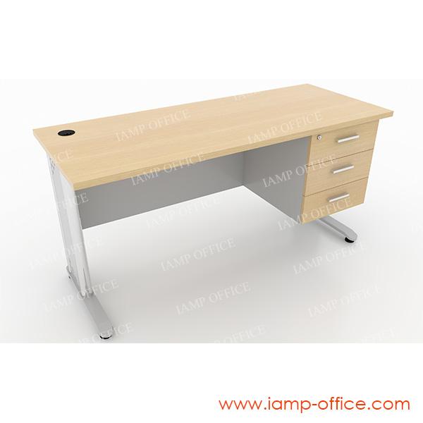 โต๊ะทำงาน 3 ลิ้นชัก สำหรับโต๊ะลึก 60 Cm.