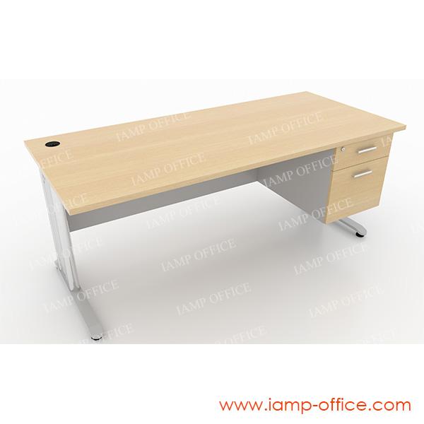 โต๊ะทำงาน 2 ลิ้นชัก สำหรับโต๊ะลึก 80 Cm.
