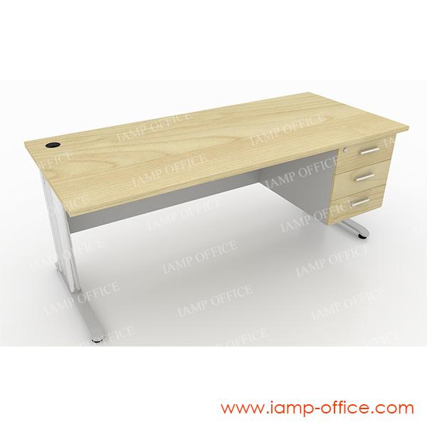 โต๊ะทำงาน 3 ลิ้นชัก สำหรับโต๊ะลึก 80 Cm.