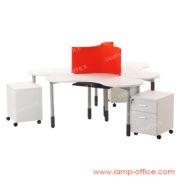 โต๊ะทำงาน 3 ที่นั่ง รุ่น TWISTER SET
