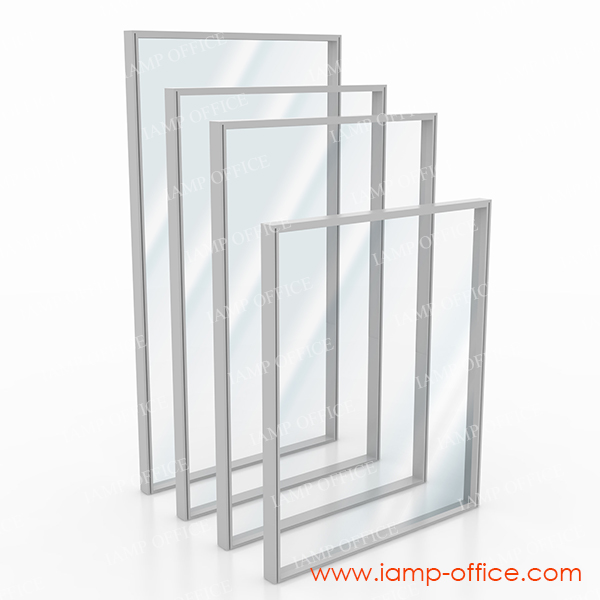 พาร์ติชั่นกระจกใสเต็มแผ่น สูง 160 Cm. แบบไม่มีกล่องไฟ / มีกล่องไฟ